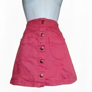 Forever 21 coral pink high waisted skirt w/pockets
